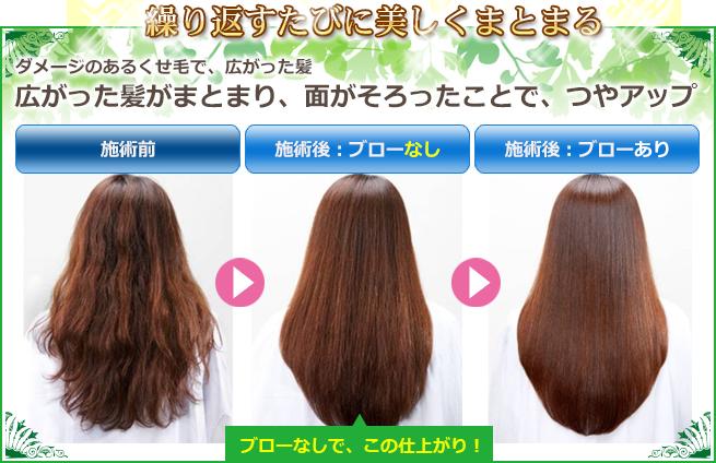美髪再生トリートメントコース効果写真1
